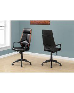 Chaise de bureau en simili-cuir noir/brun  (MONAR/I-7271/)