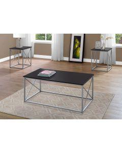 ENS DE TABLES - 3PCS / CAPPUCCINO / METAL ARGENT (MONARCH/I 7952P)