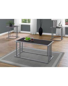 ENS DE TABLES - 3PCS / CAPPUCCINO / METAL ARGENT (MONARCH/I 7957P)