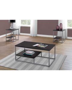 ENS DE TABLES - 3PCS / CAPPUCCINO / METAL ARGENT (MONARCH/I 7962P)