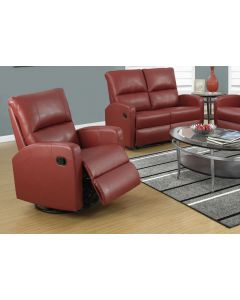 FAUTEUIL INCLINABLE - BERCANT / CUIR RECONSTITUE ROUGE (MONAR/8084RD/ROUGE)