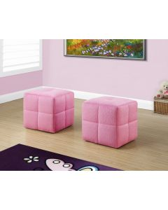 ENSEMBLE POUF 2PCS / JUVENILE / TISSUS ROSE FUZZY (MONARCH/I 8165)