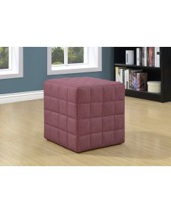 POUF - TISSU SIMILI-LIN ROUGE PALE (MONARCH/I 8899)