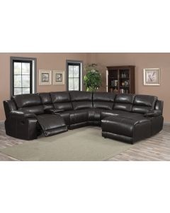 Sectionnel inclinable (LIFES/UF212B/DARK CHOCO)