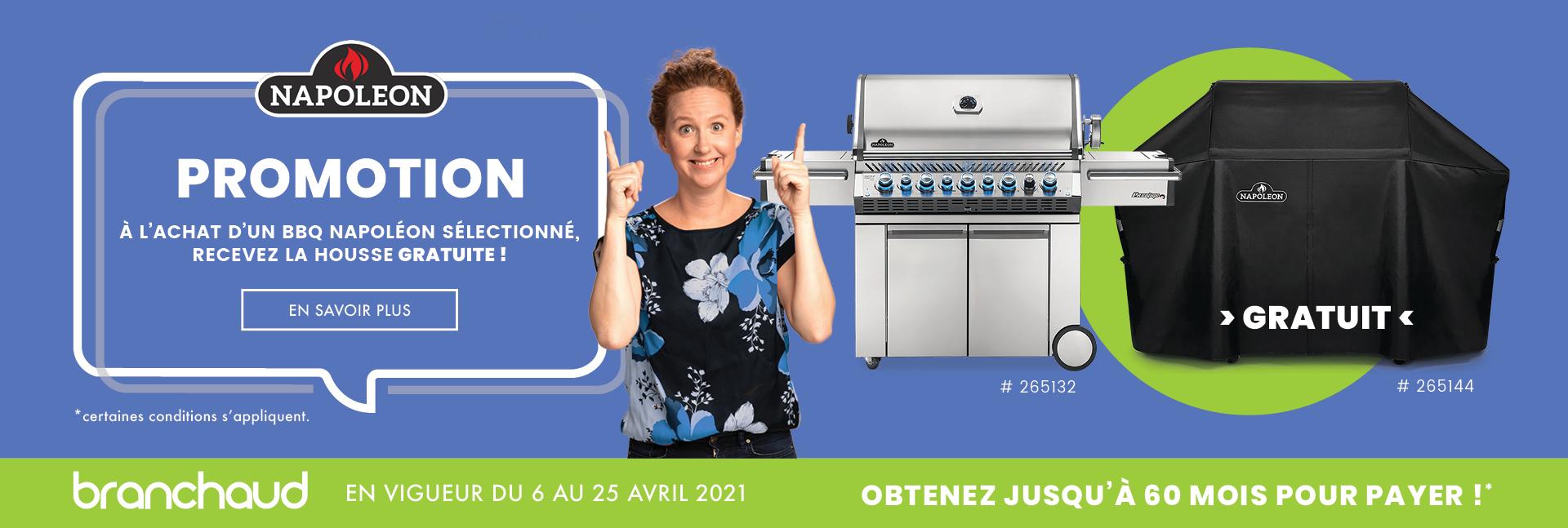 Promotion BBQ Napoléon - Housse gratuite avec certains modèles sélectionnés